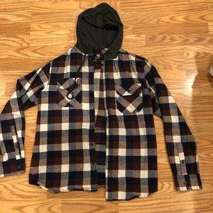 ELXR hooded flannel